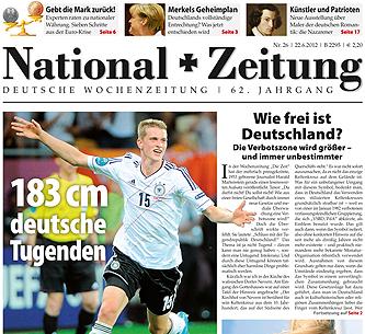Titelbild einer Ausgabe der National-Zeitung