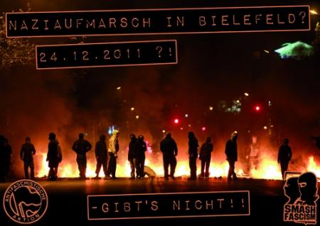 Naziaufmarsch in Bielefeld zum Desaster machen! 24.12.2011 ab 11.55 Uhr