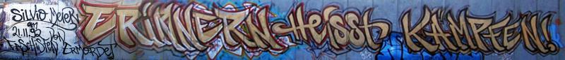 Erinnern heisst kämpfen - Graffiti