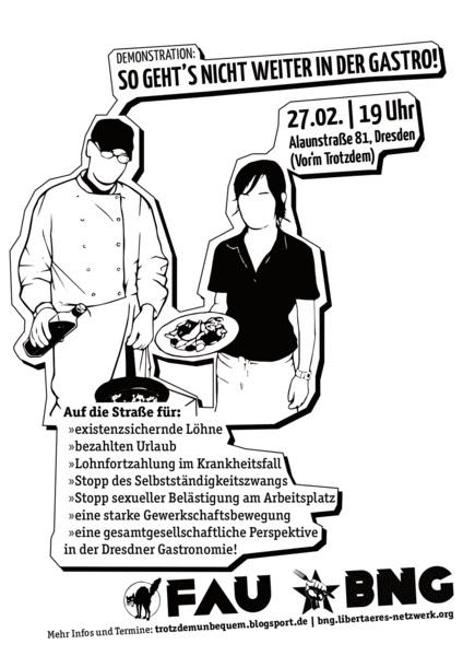 FAU Dresden - So gehts nicht weiter in der Gastro