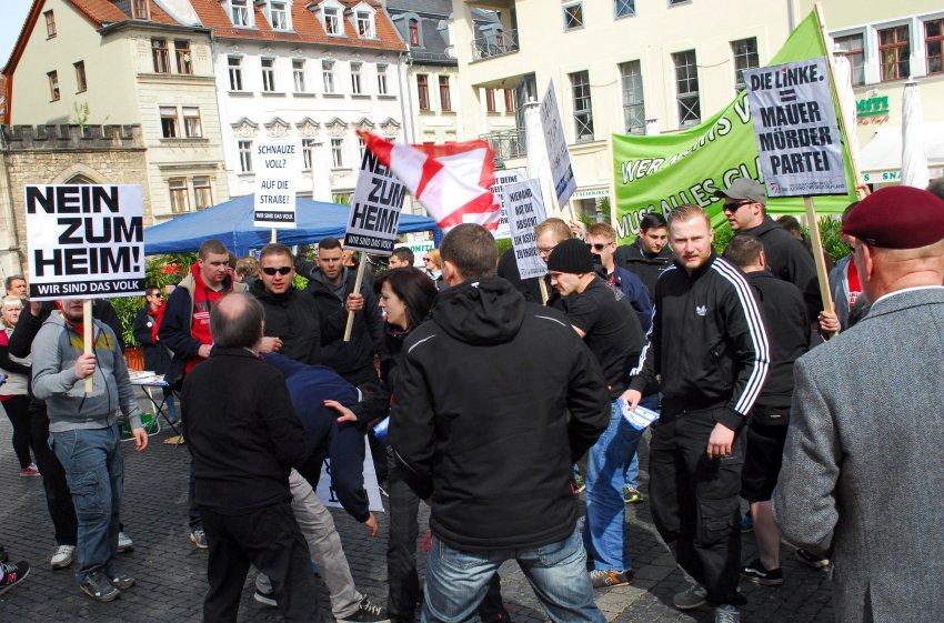 Angriff auf DGB-Kundgebung in Weimar