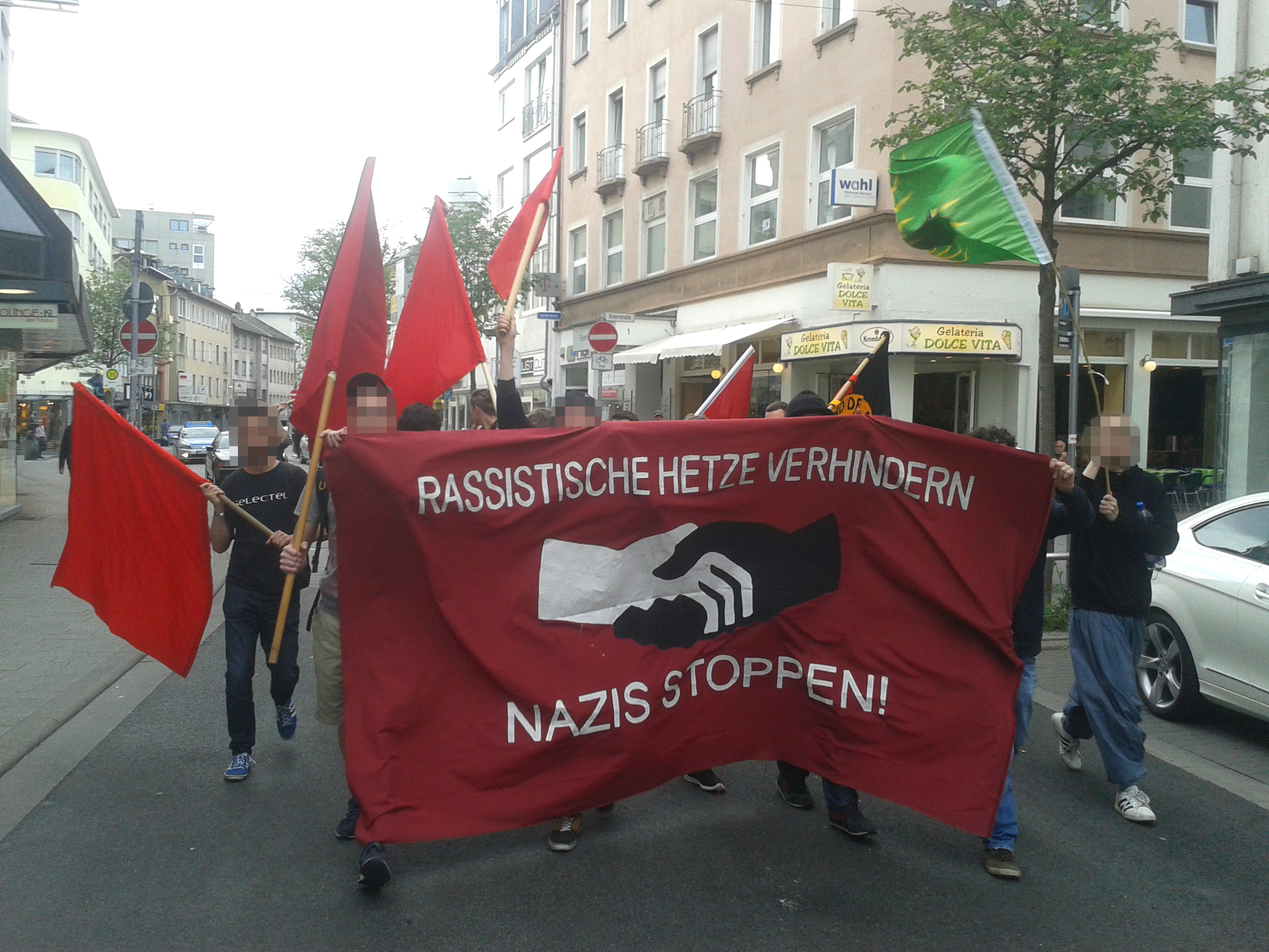 Antifaschistische Spontandemonstration (Kaiserslautern, 08.05.2015)