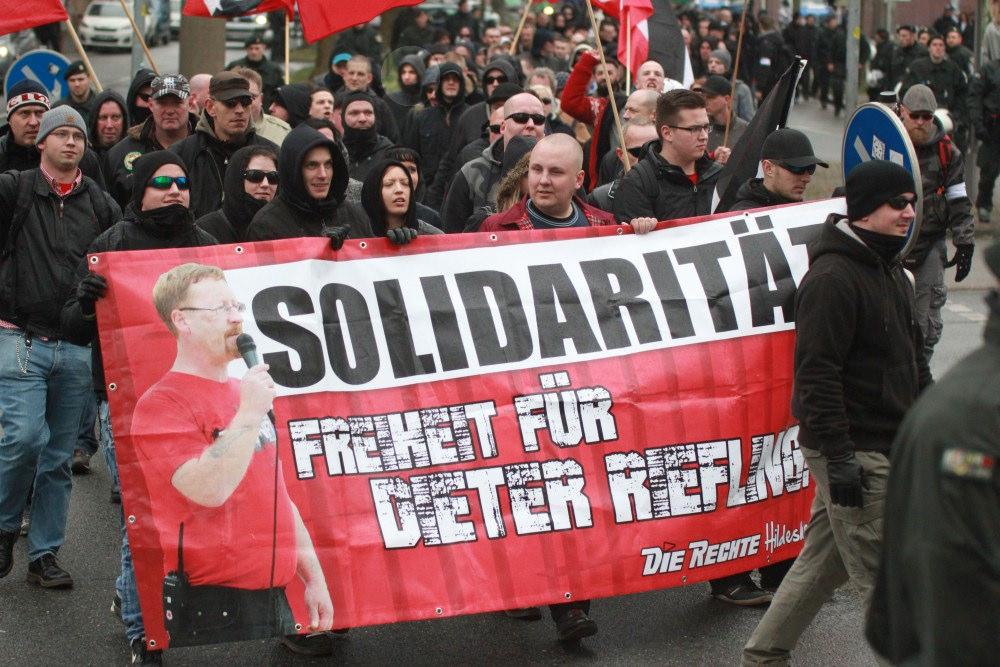 Patrick Petri und Mario Leisering beim Neonazi-Aufmarsch in Dortmund