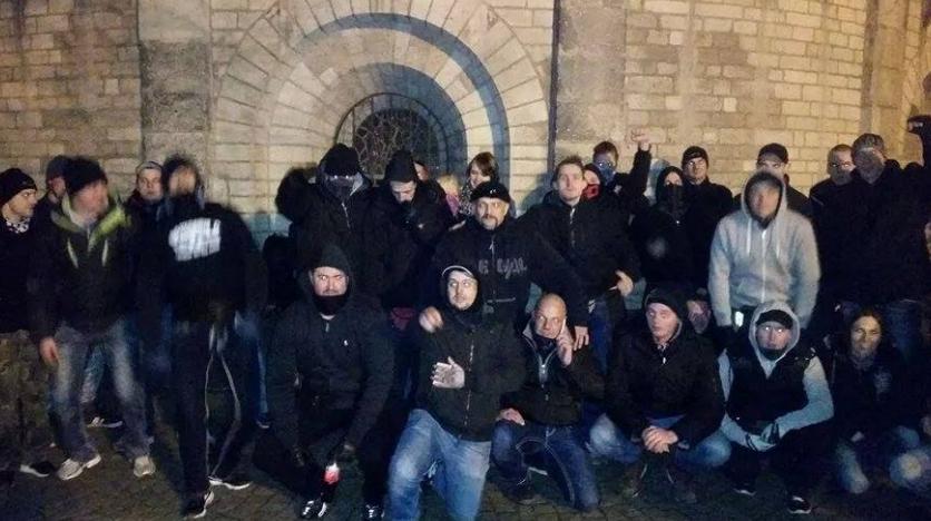 Gruppenfoto nach dem Angriffsversuch am 18.Januar 2015 in Köln