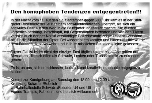 gay homophobia demo