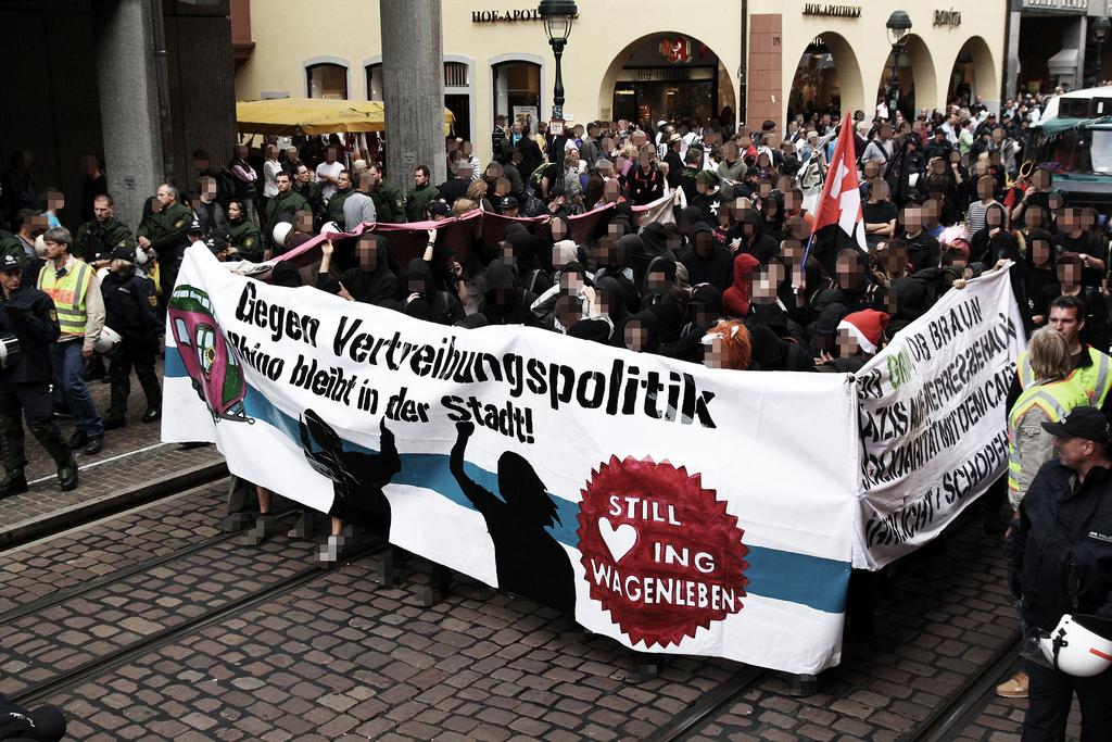 Demo Kommando Rhino in Freiburg