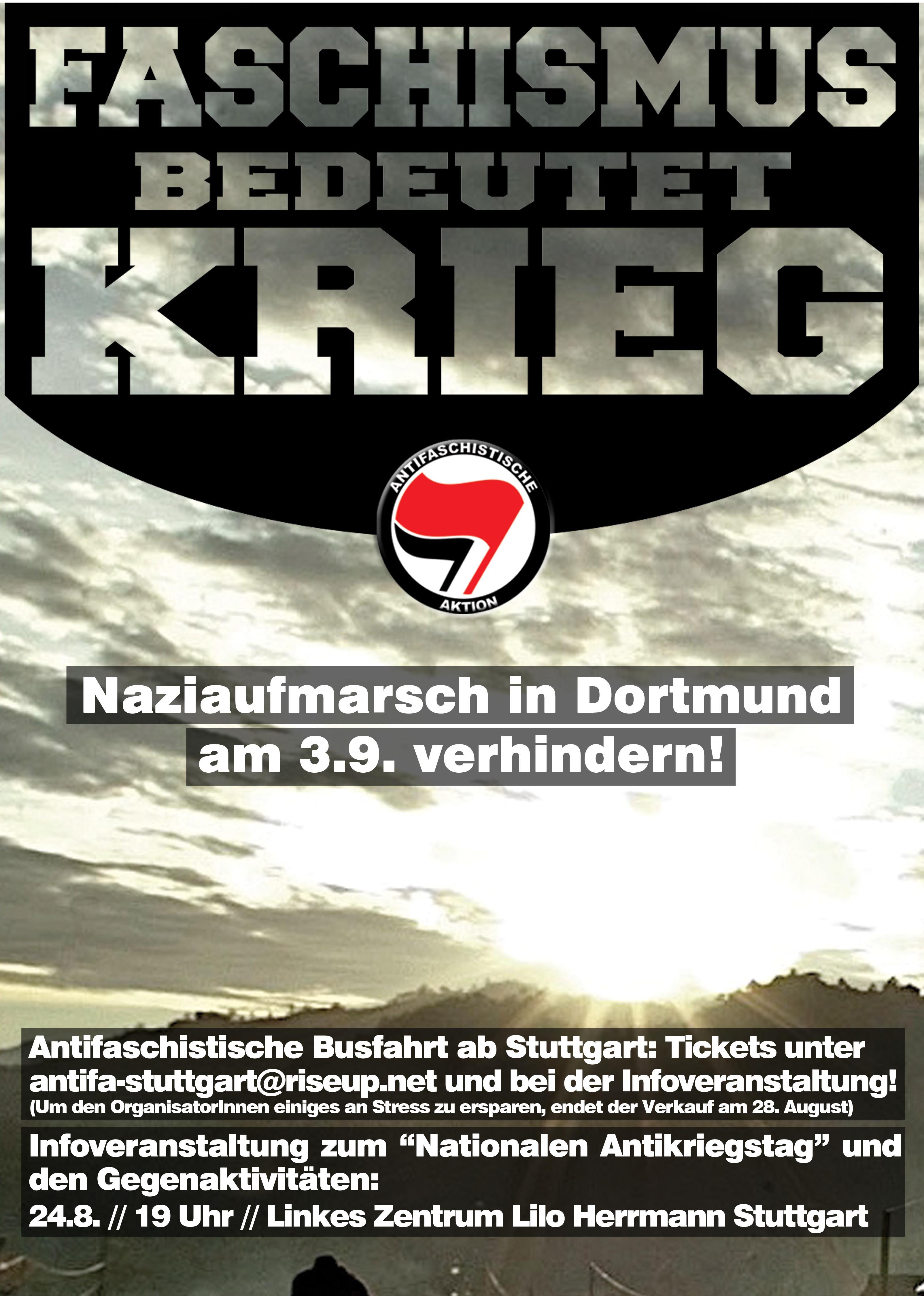 """Den """"Nationalen Antikriegstag"""" verhindern! - Mobilisierung aus Stuttgart"""