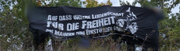 """Anti-Knast-Tage 2012 in Dresden - Transparent """"Unsere Leidenschaft für Freiheit"""""""