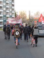 Selten von Linken begangen: Dresden Gorbitz zur WMD-Demo