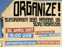 Organize! – Aufruf zur antikapitalistischen Demonstration am 30. April 2017