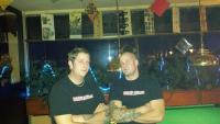 """Maikel Schmähling und Ramon Mallens in """"Blood & Honour""""-Shirts im Herbst 2013"""