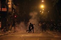 Straßenkampf in Griechenland