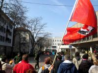 Lautstarke AntifaschistInnen am 8.3.2014 in Heilbronn
