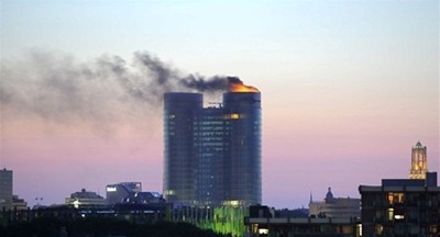 February 2011 - setting the tower in fire and attacks on the website of Rabobank in Utrecht (Netherlands)