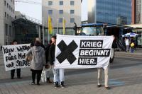 Aktion gegen Bundeswehr in Cottbus (2)