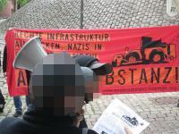 """Redebeitrag vor dem """"Heilcentrum Pless"""""""