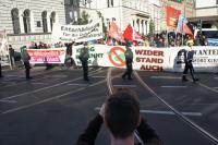 Kundgebung vor dem Bonner Landgericht