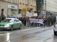 Demo verstärkt durch die Polizei