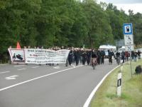 aktionstag 2012 - sponti auf der bundesstraße