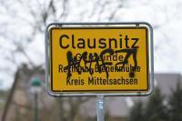 Ortsschild Clausnitz