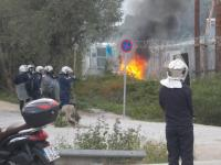 Riots in the detention center of Moria - 2
