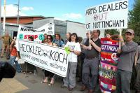 Protest outside of the company HQ in Nottingham UK