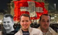 Tobias Steiger, Ignaz Bearth und Mike Spielmann von «Pegida Schweiz»