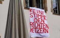Keine Stimnme den Rechten Hetzern - Proteste im Oktober 2015