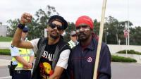 Aboriginal protesters in Canberra - 15