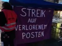 "1. März Aktion zum ""transnational social strike"""