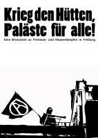 Broschüre - Krieg den Hütten, Paläste für alle!