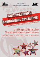 Flyer zur Demo 2014