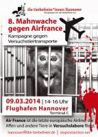 Poster: Airfrance stoppen!!!