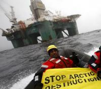 protest against arctic drilling rig