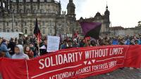 "Anarchistischer Block auf der Demonstration ""Solidarity without limits"""