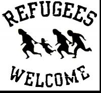 "Logo ""Refugees Welcome"""