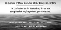 In memory of those who died at the European borders