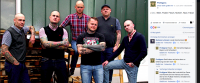 """Prolligans"". v.l.n.r: Michi (auch ""Faustrecht""), Pudolf, Flosch (auch ""Hard as Nails""), Norbert, Haxe (auch ""Smart Violence"") und Fabse (auch ""Hard as Nails"")"