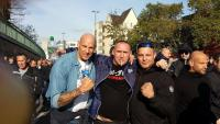 Oliver Borth (Hamburg Ultras), Holger Buchta (Rot-Front Kaiserslautern), Thorsten Sallay (Brigade Bohum) Köln 2014
