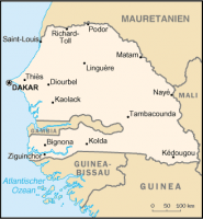 Senegal map (Wikipedia)
