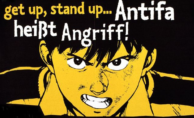 get up, stand up... Antifa heißt Angriff!