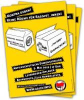 """Plakat zur antifaschistischen Demonstration gegen """"pro NRW"""" am 5"""