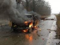 rwe-secu auto brennt auf ehemaliger autobahn