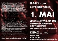 Flyer Revolutionärer 1. Mai in Karlsruhe 2