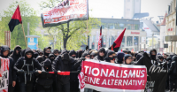 Anarchosyndikalist_innen am 1. Mai in Plauen