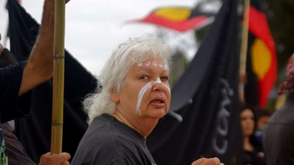 Aboriginal protesters in Canberra - 7