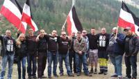 """Heldengedenken"" der südbadischen Nazis am militaristischen Kriegerdenkmal in Todtnau am 2. April 2016"