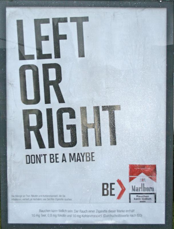 Left or Right - don't be a Maybe