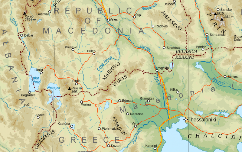 Macedonia Topography