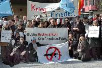 Protest against Heckler & Koch Weapons Oberndorf at their 60th anniversary